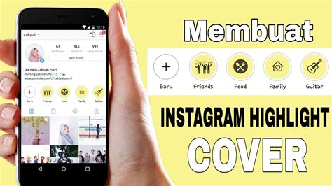 tutorial  membuat highlight cover instagram kekinian