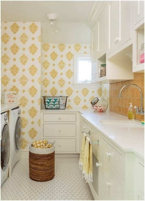 cool ideas  decorate  laundry room wall