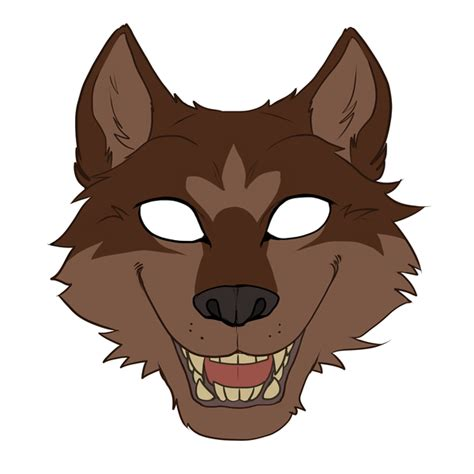 wolf mask template mask by harseik on deviantart