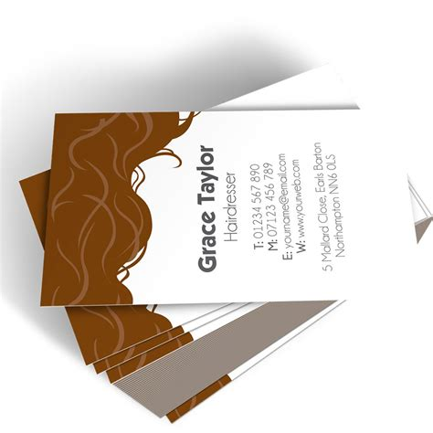 Hairdresser Templated Business Card 3  Able Labels