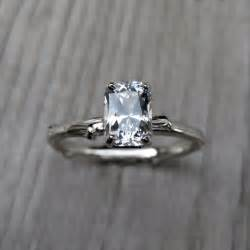 white sapphire engagement ring 27 non engagement rings that sparkle just as bright onewed