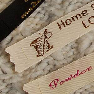 personalised woven labels to sew in handmade items gb With fabric craft labels