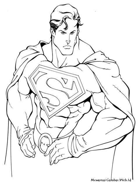 Mewarnai Gambar Superman | Mewarnai Gambar