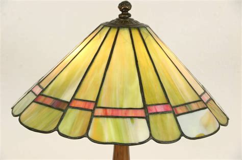 stained glass l shades l 1910 antique leaded stained glass shade damage ebay