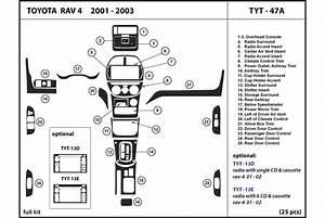 2002 Toyota Rav4 Dash Kits
