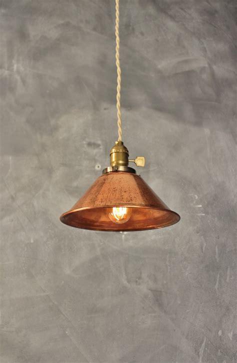 on sale weathered copper pendant l vintage industrial