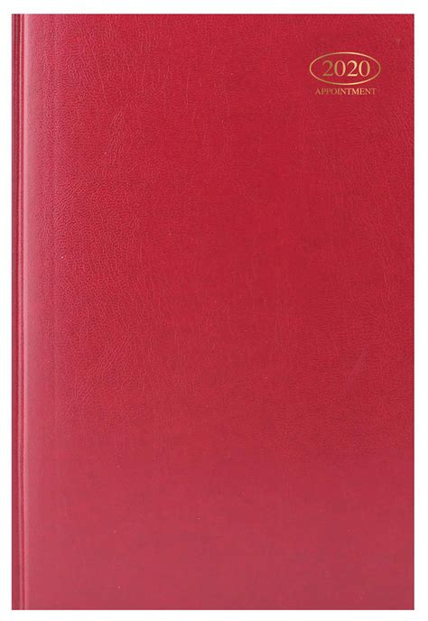 hardback red appointment diary calendar club uk