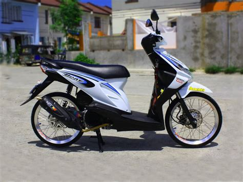Foto Modifikasi Beat New by Modifikasi Honda Beat Pop Putih Automotivegarage Org