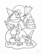 Snowman Coloring Pages Abominable Dwarfs Making Printable Getcolorings sketch template