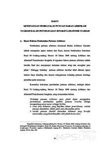 Kewenangan Pembatalan Putusan Badan Arbitrase Syariah