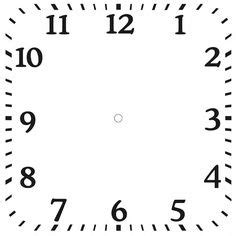 downloadable clock faces printables clock face
