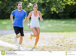 Young People Running In Nature Stock Photo - Image: 57772658