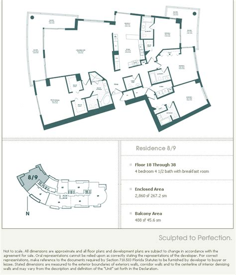 floor plans key carbonell brickell key condo floor plans