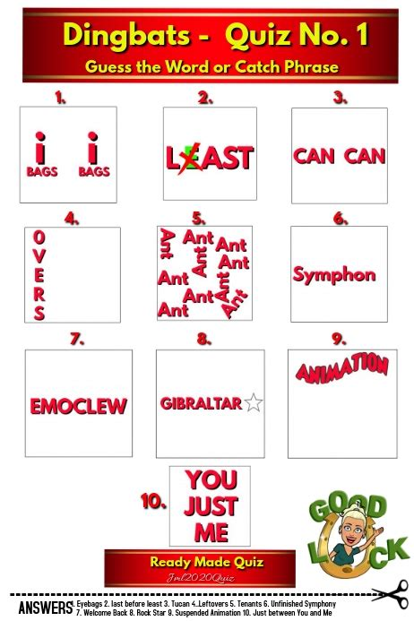 All levels we published with full video and image hint. Quiz with Answers DINGBATS Template | PosterMyWall