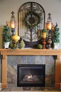 25 best ideas about fireplace mantel decorations on for Kitchen cabinets lowes with old world metal wall art