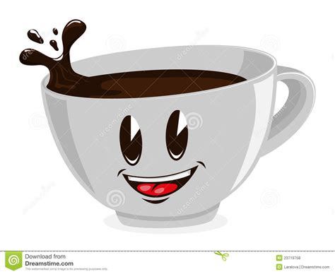 Cute Cup Of Coffee Stock Vector. Illustration Of Face