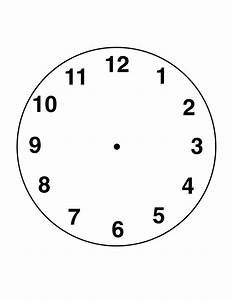 Free Blank Clock Faces Worksheets
