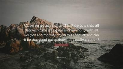George Washington Faith Peace Observe Towards Justice