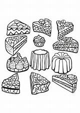 Coloring Cakes Cupcakes Pages Adults Cup Cake Print Zentangle Food Cupcake Different Adult Printable Coloriage Creamy Desserts Warhol Kitty Hello sketch template
