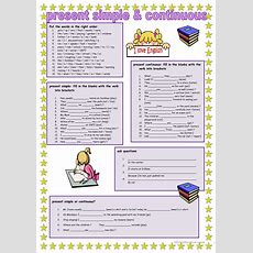 Present Simple And Continuous Worksheet  Free Esl Printable Worksheets Made By Teachers