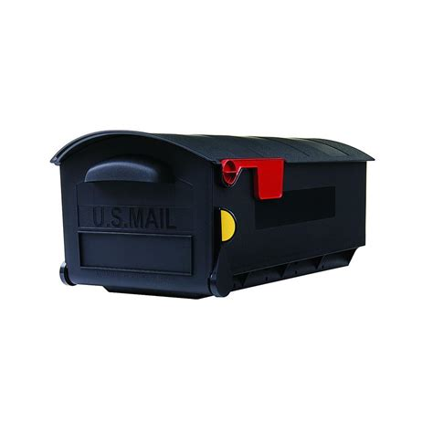 gibraltar mailboxes plastic black post mount mailbox