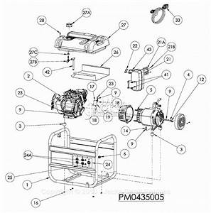Powermate Formerly Coleman Pm0435005 Parts Diagram For
