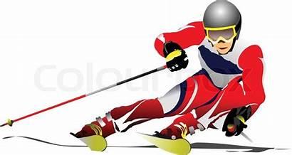 Skifahrer Skier Sciatore Vektor Clipart Skieur Ski