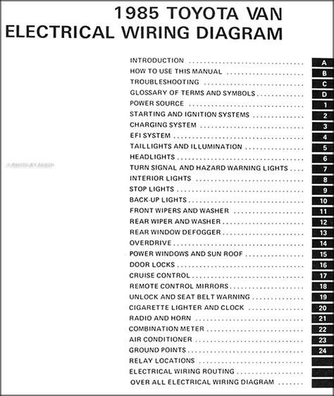 toyota van wiring diagram manual original