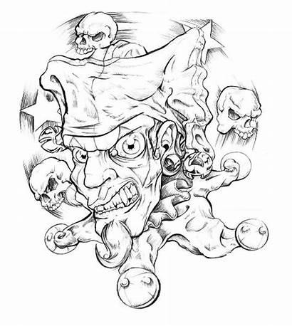 Clown Evil Tattoo Drawings Tattoos Clowns Drawing