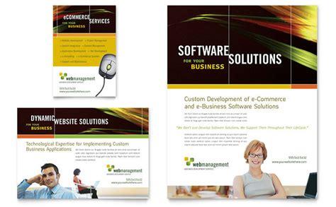 internet software flyer ad template design