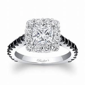 Barkev's Black Diamond Princess Cut Ring 7939LBK
