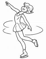 Skating Coloring Pages Figure Spinning Colouring Ice Woman Spin Skater Drawing Skate Clip Printable Doll Books Dancing Roller sketch template