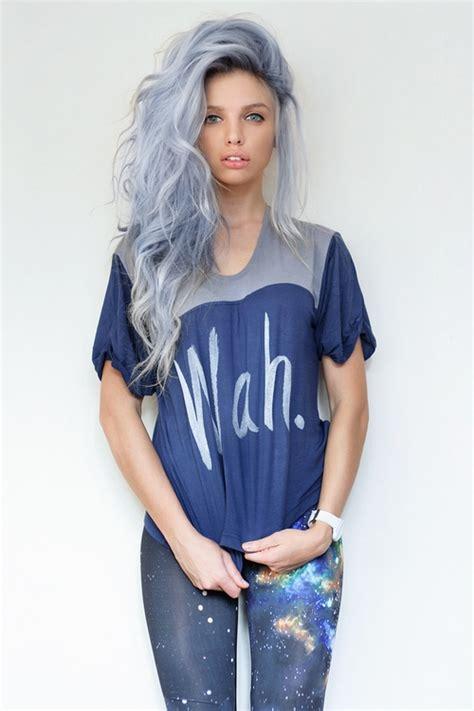wear  blue gray lavender hair color hair