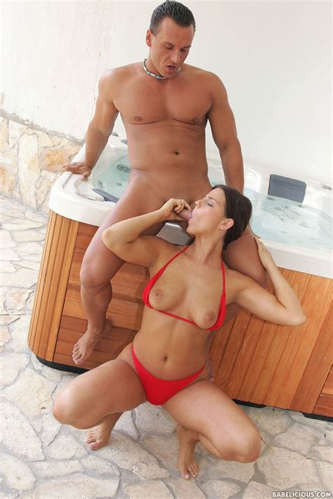 Splendid Brunette Simony Diamond Lays Off Her Red Bikini And Enjoys Hardcore Sex In Jacuzzi