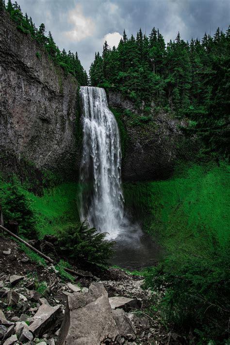 fotos gratis paisaje arbol naturaleza cesped cascada