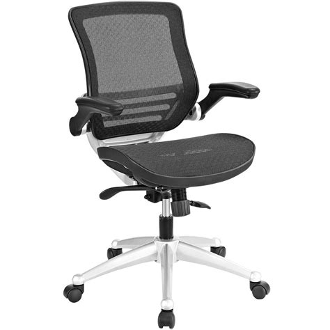 edge modern ergonomic mesh office chair w padded vinyl