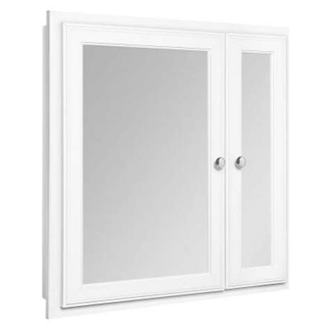 Glacier Bay Medicine Cabinet Mirror by Glacier Bay 24 In X 25 In Recessed Mirrored Medicine