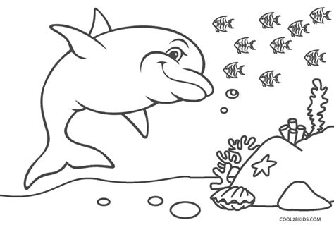 printable dolphin coloring pages  kids coolbkids