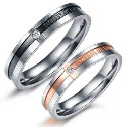 wedding bands for couples matching titanium steel engagement promise ring wedding bands yoyoon 7106