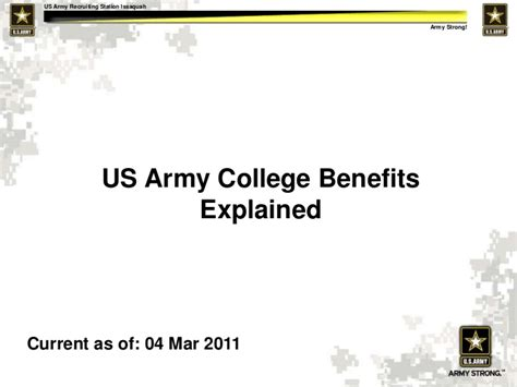 army powerpoint template us army college benefits explained