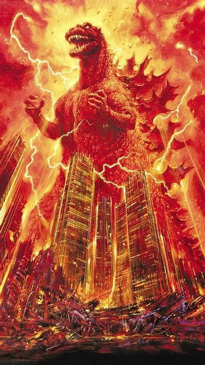 Godzilla Phone 1985 Wallpapers Burning Shin 1954