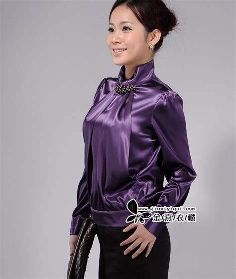 high collar blouse high collar satin blouse things to wear