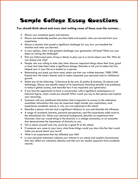 writing a good college application essay examples of college essays summer camp entrepreneur