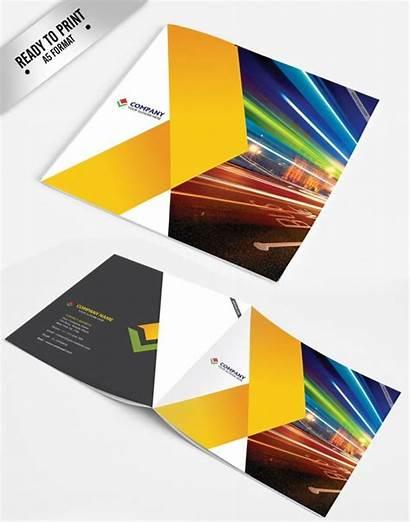 Brochure Corporate Templates Template Fold Tri Trifold