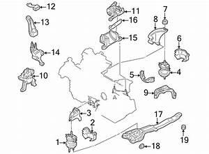 Mazda Millenia Transmission Crossmember Insulator  2 3