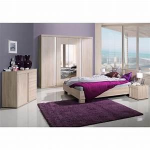 Commode Chambre Adulte : chambre coucher compl te adulte avignon lit armoire chevets commode meuble design en ~ Teatrodelosmanantiales.com Idées de Décoration