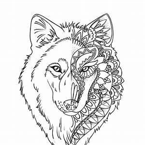 Loup Tatouage Geometrique : tatouage tete de loup mandala ~ Melissatoandfro.com Idées de Décoration