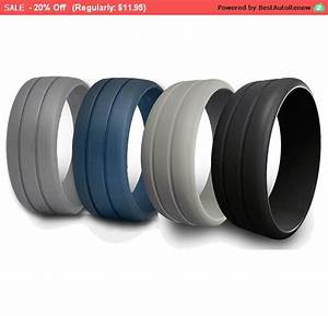 mens rubber silicone wedding ring band ridged best quality With best rubber wedding ring