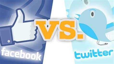Facebook vs. Twitter - YouTube