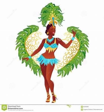 Samba Brazilian Dancer Vector Carnival Costume Festival